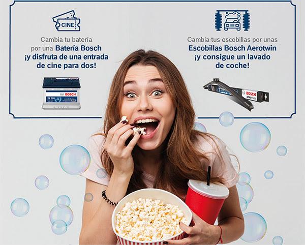 Cambia tu batería por una Batería Bosch ¡y disfruta de una entrada de cine para dos! - Cambia tus escobillas por unas Escobillas Bosch Aerotwin ¡y cosigue un lavado de coche!